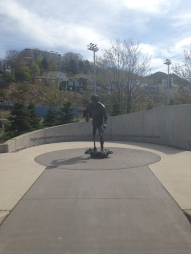 The Terry Fox monument where he started in St. John's.