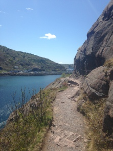 Hiking past The Narrows