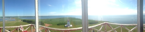 The view from the top of the lighthouse
