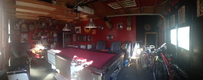 The garage in the fabulous Charlottetown Backpackers Inn