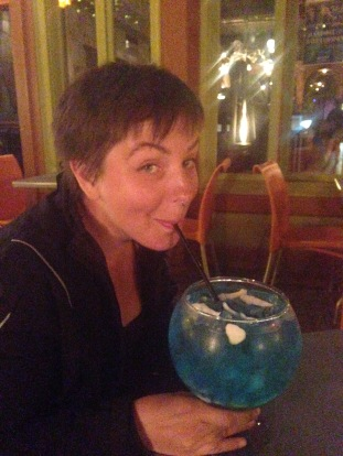 "Turns out when the menu says ""fishbowl,"" they aren't kidding."