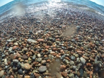 Colourful rock beaches abound on Superior