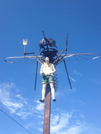 This sculpture in Upsala perfectly captures my relationship with mosquitoes.